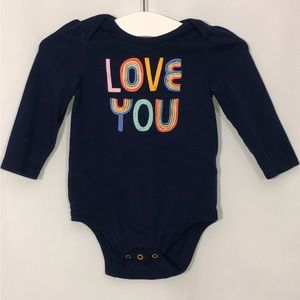 """BABY CAT & JACK """"love you """" long sleeve"""